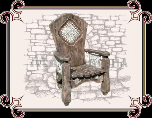 Кресло трон дерево