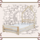 Кровать с домиком