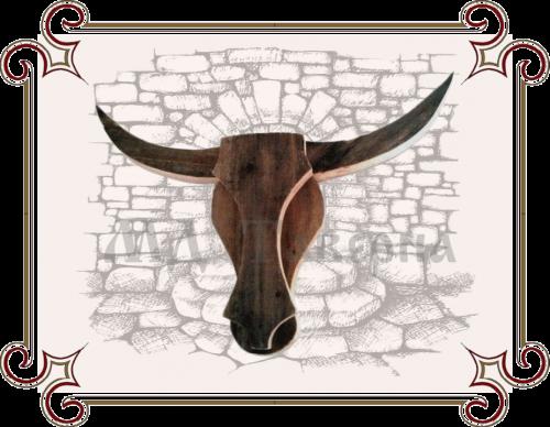 панно голова быка