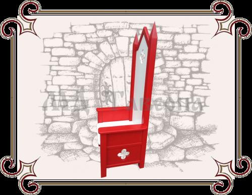 Трон Деда Мороза красный