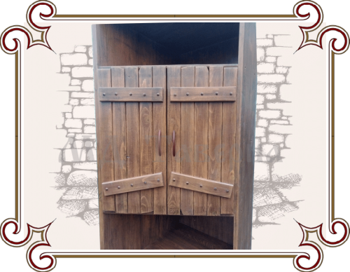 Угловой шкаф под старину