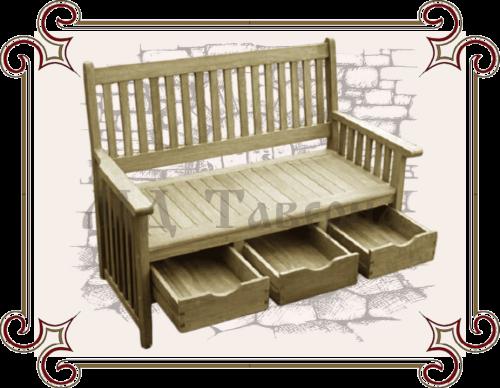 Скамейка с ящиками