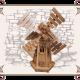 Мельница деревянная маленькая
