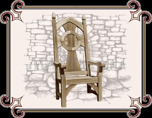 Кресло-трон готический
