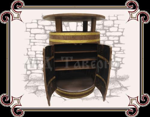 Бочка стол с ящиком