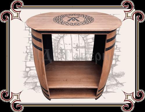 Консольный столик из бочек