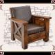Кресло кожа массив
