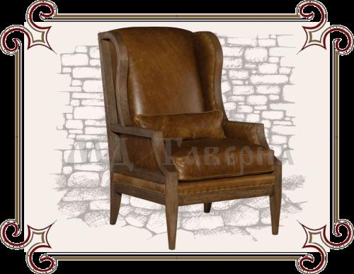Кресло массив кожа