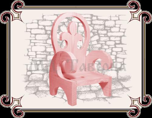 Детский стул розовый