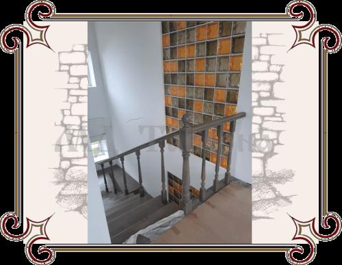 Лестница кантри стиль