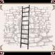 Лестница приставная на колесах